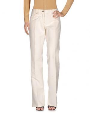 Повседневные брюки BUI de BARBARA. Цвет: слоновая кость