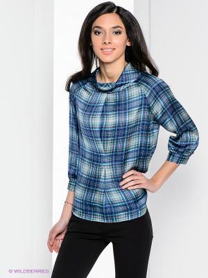 Блузка Henry Cotton's. Цвет: синий, зеленый, серый