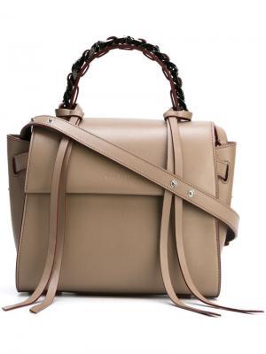 Маленькая сумка-тоут Angel Elena Ghisellini. Цвет: серый
