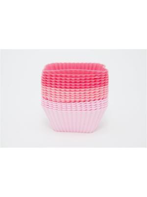 Набор форм силиконовых 16шт, 7х3см, квадратные, Кекс. Vetta. Цвет: розовый