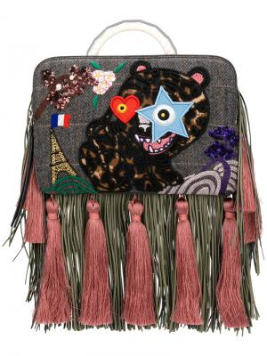 Fringe Bon-Bon Tiger bag The Volon. Цвет: многоцветный
