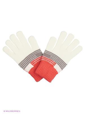 Перчатки United Colors of Benetton. Цвет: белый, серый, оранжевый