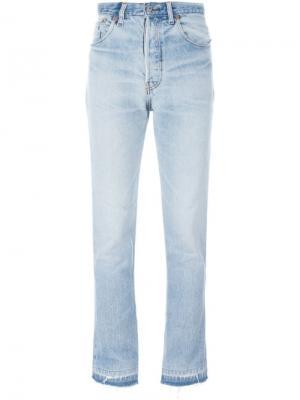 Слегка расклешенные джинсы Re/Done. Цвет: синий