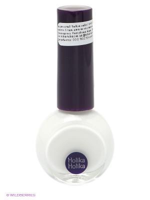Лак для ногтей Бейсик нейлз WH01 Белый Holika. Цвет: белый