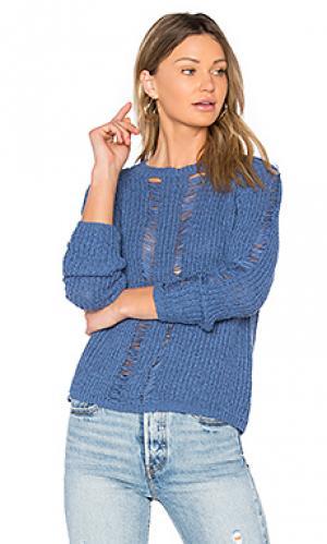 Укороченный свитер carmel Central Park West. Цвет: синий