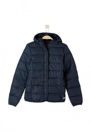 Куртка утепленная s.Oliver. Цвет: синий