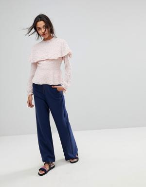 Max & Co Широкие брюки на молнии Max&Co. Цвет: синий