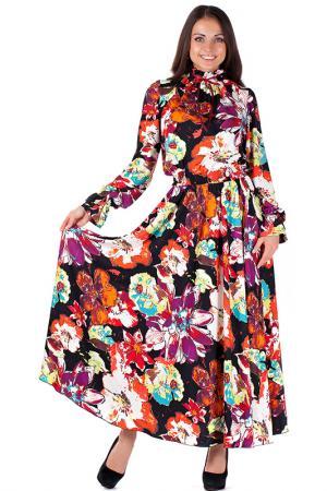 Платье Mannon. Цвет: черно-малиновый