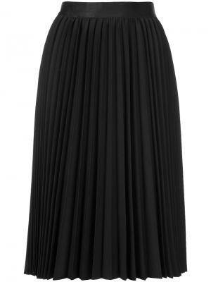 Плиссированная юбка миди Astraet. Цвет: чёрный