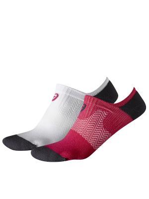 Носки 2PPK INVISIBLE SOCK ASICS. Цвет: бордовый, белый, черный