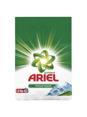 Стиральный порошок Горный родник, автомат, 1.5кг Ariel. Цвет: белый, зеленый