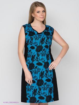 Платье D`imma. Цвет: черный, голубой