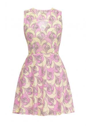 Платье из хлопка 170706 Villa Turgenev. Цвет: разноцветный