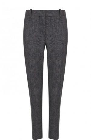 Укороченные шерстяные брюки со стрелками CALVIN KLEIN 205W39NYC. Цвет: серый