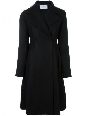 Расклешенное удлиненное пальто Harris Wharf London. Цвет: чёрный