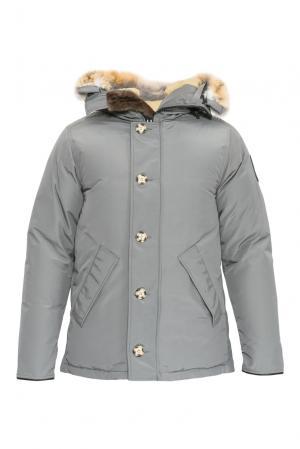 Пуховик с мехом койота 152307 Arctic Bay. Цвет: серый