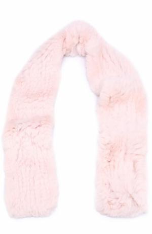 Шарф из меха кролика Yves Salomon Enfant. Цвет: светло-розовый