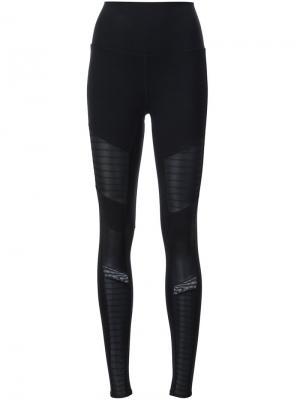 High waisted moto leggings Alo. Цвет: чёрный