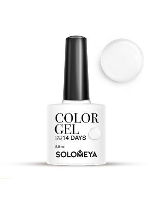 Гель-лак Color Gel Тон Milk SCG154/Молоко SOLOMEYA. Цвет: белый