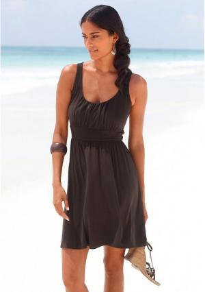 Пляжное платье Lascana. Цвет: бирюзовый, зеленый, черный