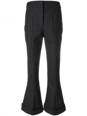 Укороченные брюки клеш Jacquemus. Цвет: серый