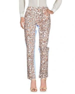 Повседневные брюки BROGNANO. Цвет: бежевый
