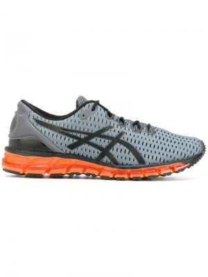 Кроссовки на шнуровке с подошвой неоновым эффектом Asics. Цвет: серый