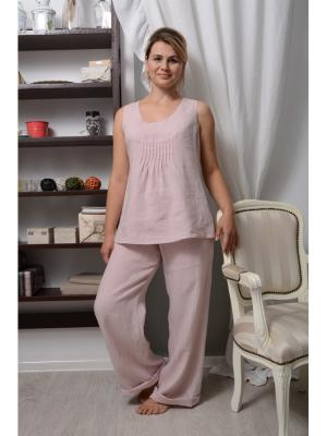 Пижама Николь женская LINO RUSSO. Цвет: розовый