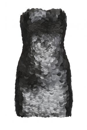 Платье в пайетках 167848 Paola Morena. Цвет: черный