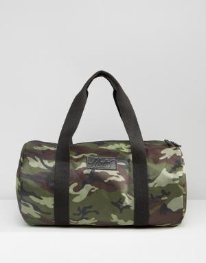Heist Стеганая сумка с камуфляжным принтом цвета хаки. Цвет: зеленый