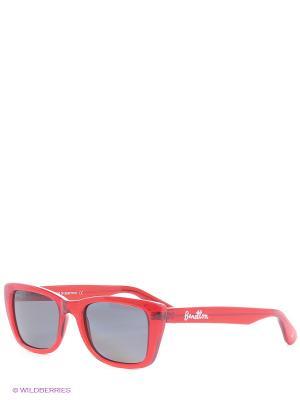 Очки солнцезащитные BB 598S 02 United Colors of Benetton. Цвет: красный