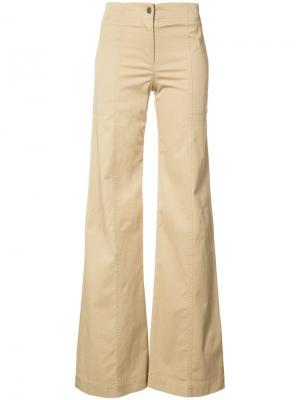 Расклешенные брюки Wanderlust Veronica Beard. Цвет: коричневый