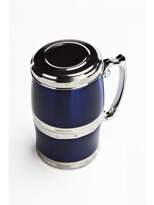 Кружка магнитная ЖИВАЯ ВОДА BRADEX. Цвет: синий
