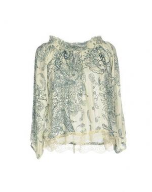 Блузка CAFèNOIR. Цвет: светло-зеленый