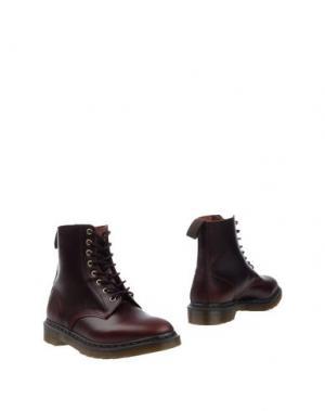Полусапоги и высокие ботинки DR. MARTENS. Цвет: баклажанный
