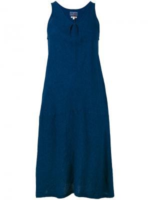 Платье с V-образным вырезом Blue Japan. Цвет: синий