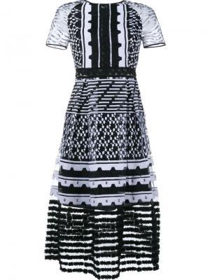 Миди платье с вышивкой Jonathan Simkhai. Цвет: чёрный