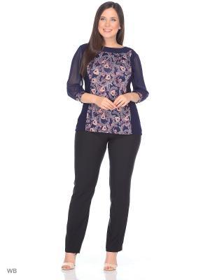 Блузка KATERINA. Цвет: темно-синий, розовый