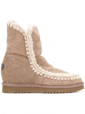 Eskimo wedge boots Mou. Цвет: коричневый
