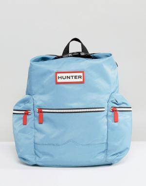 Hunter Светло-голубой нейлоновый мини-рюкзак Original. Цвет: синий