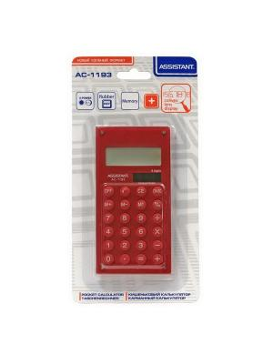 Калькулятор карманный Assistant. Цвет: красный