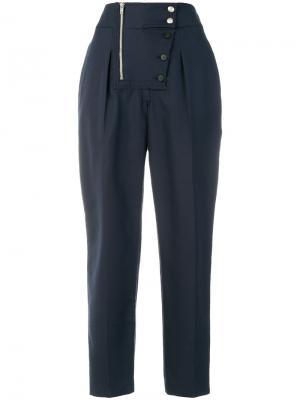 Укороченные брюки на пуговицах Calvin Klein 205W39nyc. Цвет: синий