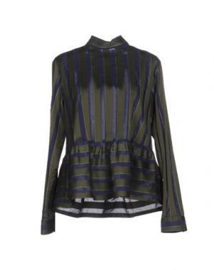 Блузка CALIBAN. Цвет: темно-зеленый