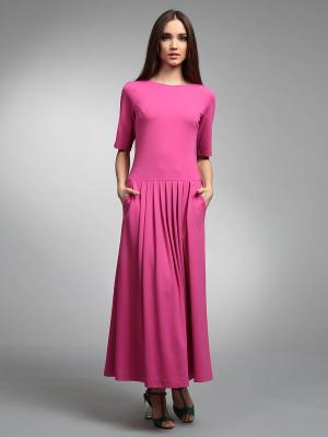 Платье ЭНСО. Цвет: розовый