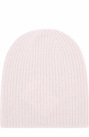 Вязаная шапка из кашемира Johnstons Of Elgin. Цвет: белый