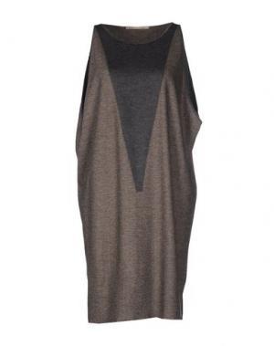 Короткое платье MARITHÉ + FRANÇOIS GIRBAUD. Цвет: голубиный серый