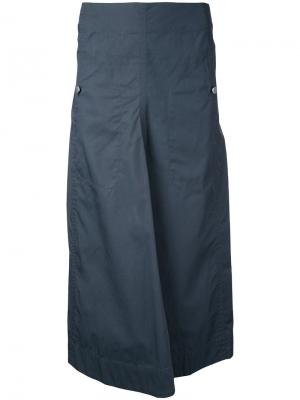 Long flared skirt Lemaire. Цвет: серый