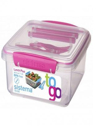 Контейнер с приборами TO-GO  1,2л Sistema. Цвет: фиолетовый
