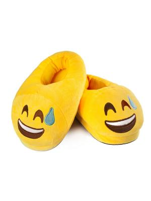 Тапки-смайлики Упс (emoji) SOXshop. Цвет: желтый