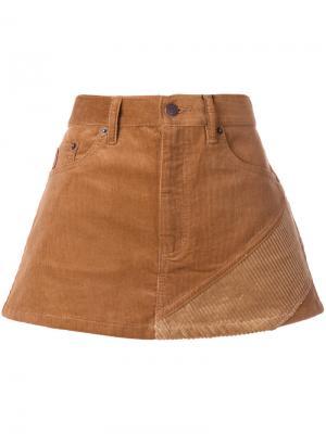 Вельветовая мини-юбка Marc Jacobs. Цвет: коричневый